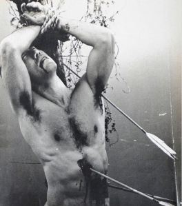 As Saint Sebastian